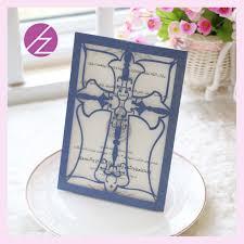 buy paper invitations online pcs paper craft wedding invitations folded laser cut cross design Christianism wedding card