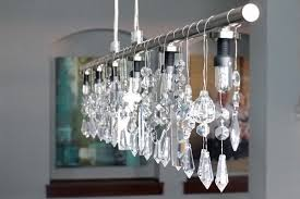 diy linear crystal chandelier free tutorial with pictures on how to make a hanging light