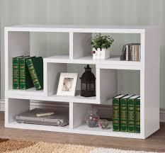 White Modern Bookcase Shown As Wall Unit