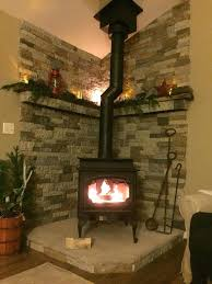how to build a corner fireplace mantel and surround wood stove hearth