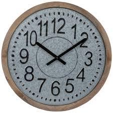 galvanized metal wall clock hobby