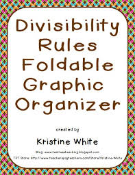 Teaching without Tears  Divisibility Rules Foldable Graphic Organizer Pinterest