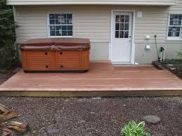 Creative Design Ideas Modern Small Backyard Deck Wood With Hot Tub .