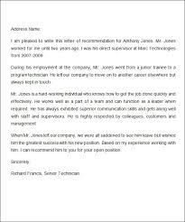 10 Job Recommendation Letters Sample Templates