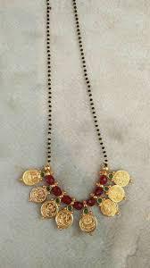 traditional south indian lakshmi pendant mangalsutra goldjewellerymangalsutra