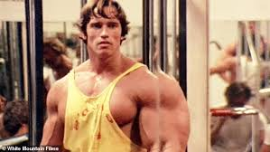 pumping iron arnold schwarzenegger at the famed gold s gym in the 1977 film