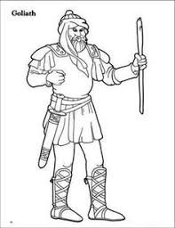 Goliath Coloring Page At Getdrawingscom Free For Personal Use