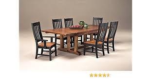 amazon intercon rustic mission 7 pc dining set 44 x 72 108 2 18 ref lvs table chair sets
