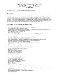 Vet Tech Resume Publish Photo Veterinary Technician Job Description