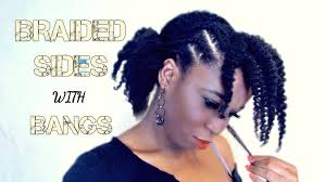 Braided Bangs Hairstyles Ponytails With Braided Sides And Bangs Natural Hairstyles Youtube