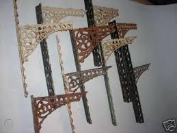 ornate antique iron wall shelf brackets