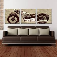 Canvas Art Motorcycle 24 X 72 Canvas Art Print Triptych Wall Art At Hayneedle