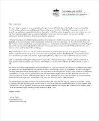 Sponsorship Letter Example 40 Free Word PDF PSD Documents Cool Format For Sponsorship Letter