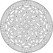 Geometric Coloring Designs Geometry Coloring Pages Free Geometric