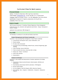 Africablank Download Free Blank Cv South African Cv Template