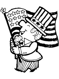Independence Day Coloring Page: Uncle Sam with US Flag | Free ...