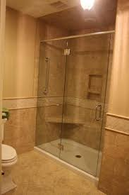 Bathroom Remodeling Cost with marble wall glass divider shower ...