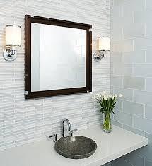 tempo glass tile modern bathroom