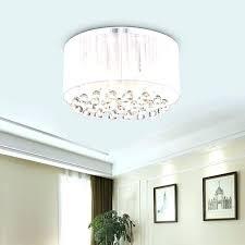 semi flush crystal chandelier bronze