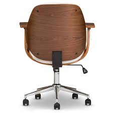 white walnut office furniture. Baxton Studio Rathburn Modern And Contemporary White Walnut Office Chair - SD-2235- Furniture E