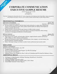 Corporate Communication Executive Sample Resume (resumecompanion.com)