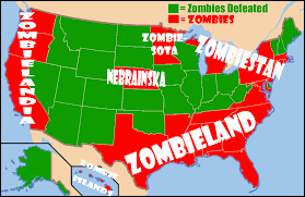Zombie Survival Chart U S States Most And Least Likely To Survive The Zombie