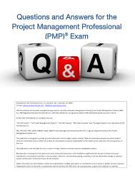 pmp exam q and a
