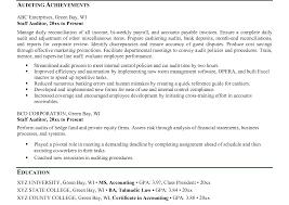 Sample Auditor Resumes Staff Auditoresume Internal Sample Tax Accountant Examples Senior