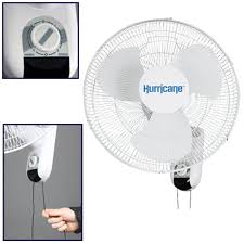 hurricane 736503 classic wall mount oscillating fan 16 inch com