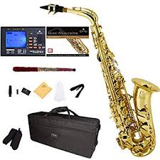 Bundy Saxophone Serial Number Chart Amazon Com Mendini By Cecilio Mas L 92d Pb Gold Lacquer E