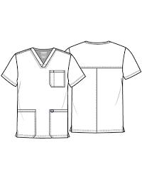 Cherokee Ww670 Mens V Neck Top Discount Nursing Uniforms