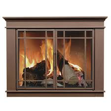 matheson masonry fireplace doors with steel welded frame for simple glass fireplace enclosures