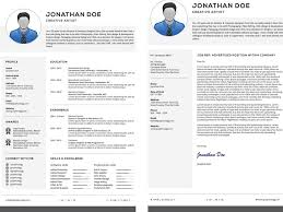 professional resume cover letter set