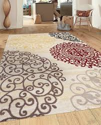 Added To Cart - Modern Transitional Soft Damask Grey Area Rug x 17412947 Overstock Great Deals on Rugs Mobile Floral Cream Brown Red in 2019 | Home decor Rugs,