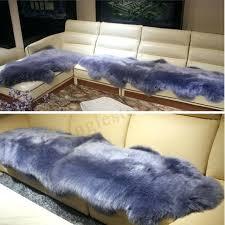 sheepskin rug chair cover warm carpet seat charcoal grey mongolian australia sheepskin rug light grey mongolian white