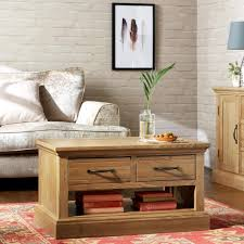 kingston coffee table ready assembled living room table with 2 drawers
