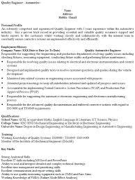 Automotive Engineer Resumes Sample Engineering Resumes System Engineer Resume Anuvratfo