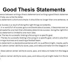 Excellent Thesis Statements Examples