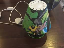 ben 10 lamps shade and bed side lamp good condition working perfect cfl lamp fitted to