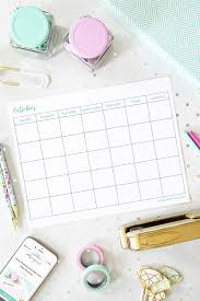 October 2019 Calendar Pretty Free October Printable