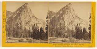 front view of the three brothers 4 480 feet yosemite valley mariposa county