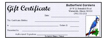 gift certificate for business creating a company gift certificate