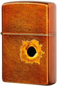 24717 <b>Зажигалка Zippo Bullet</b> Hole, Toffee Finish