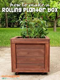how to make a rolling planter box i