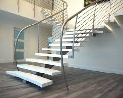 ... Unique handrail design adds further charm to this floating stairway