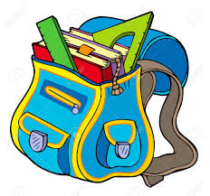 book clipart backpack