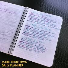 make your own daily planner bussiness planner
