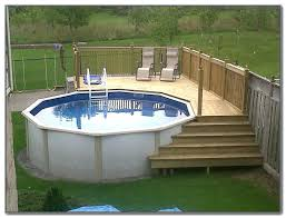 building a small cost installed above ground pool deck ideas designs in around 7 build ladder