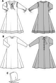 Medieval Tunic Pattern Custom Burda Pattern BD48 Child's Medieval Tunic Dress Costume