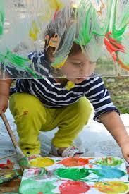 plexiglass painting with yogurt paint for toddlers meri cherry blog